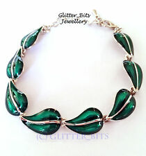 Elven Leaf Bracelet Chain Green Hobbit LOTR Lord of The Rings Smaug Elf