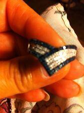 Blue And White Diamond Ring, 0.50 Ctw, Sz 7