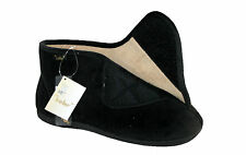 MENS BLACK/BROWN DR KELLER TOUCH CLOSE STRAP BOOT SLIPPER IN SIZES 6-12