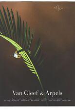 PUBLICITE ADVERTISING 2002  VAN CLEEF & ARPELS joaillerie BIJOUX BAGUES