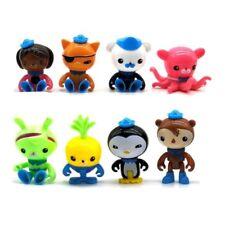 8Pcs Peso cute Octonauts Barnacles Action PVC Figure Kids Children Toy Doll Gift