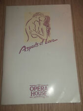 "THE OPERA HOUSE MANCHESTER "" ASPECTS OF LOVE "" THEATRE PROGRAMME 1993"