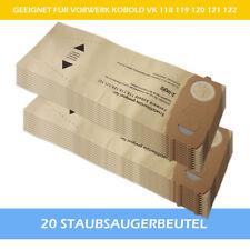 20 Filtertüten Staubsaugerbeutel geeignet Für Vorwerk Kobold 118 119 120 121 122
