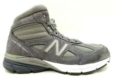 New Balance 990 V 4 Gray Leather Lace Up High Top Fashion Sneakers Men's 8.5 D