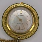 Lucerne Gold Tone Necklace Pendant Watch Swiss Made Mechanical
