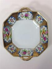 NORITAKE Morimura Japan Serving Bowl Pheasant Gold Floral Art Deco