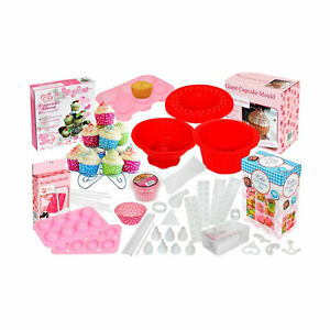 204 Pieces Cake Pop Set Cupcake Baking Decorating Stand & Mould Kit Prefect Gift