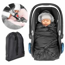 Zamboo Einschlagdecke Decke für Babyschale & Maxi Cosi Thermo Fleece Schwarz