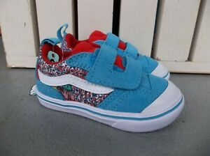 NWT VANS BOYS TODDLER COMFY CUSH NEW SKOOL V SNEAKERS/SHOES.SIZE 5.NEW FOR 2021.