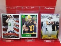 2020 Score Leaf  Justin Herbert (3) Card Rookie Lot  Chargers