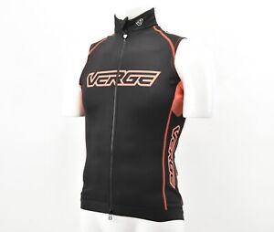Verge Women's Aero-Therm Winter Cycling Vest Medium Black/Orange New Old Stock