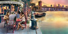 Michael Tarin: Brooklyn Cafe Keilrahmen-Bild 50x100 Leinwand New York