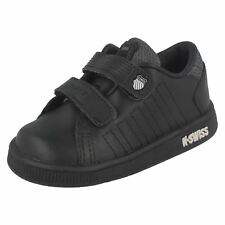 Infant/Baby Boys K-Swiss Lozan II Strap DX Rounded Toe Leather Trainer