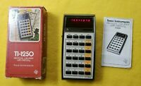 Vintage Texas Instruments TI-1250 Electronic Calculator Red LED with Box