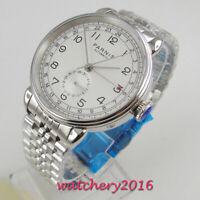 42mm PARNIS white dial jubilee strap Automatic movement polished case mens Watch
