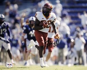 Breece Hall Signed Autographed Iowa State Cyclones 8x10 Photo Psa/Dna