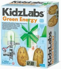 GREEN ENERGY SCIENCE GENERATE GREEN ELECTRICITY BY KIDZ LABS 4M - NEW & SEALED!