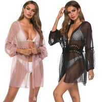 Womens Chiffon Sheer Beachwear Swimwear Bikini Beach Wear Lace Cover Up Kaftan