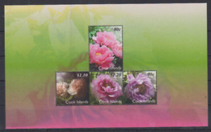 Cook Islands - 2011 - SC 1362 - Flowers Souvenir Sheet of 4 VF MNH