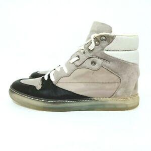 Balenciaga Leather High Top Womens Sneakers Size 39 EU Grey / Black 341006