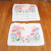 5 Vintage Homemade Floral Pattern Place Mats