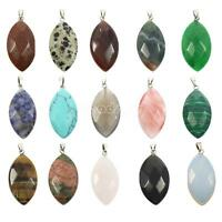 Perles Healing Collier Pendentif Oval Naturel Bijoux Pierre Gemmes Charm
