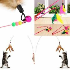 Super 35'' Funny Fun Teaser Kitten With Chaser Cat Feather Bell Beads Wand Pet o