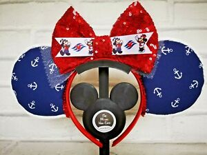 Disney Cruise Line StayCation Mickey Mouse ears - Red Bow