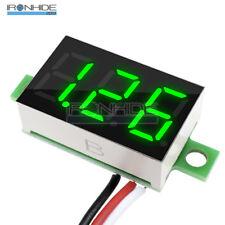 """0.36"""" DC 0-30V LED Panel Voltage Meter 3-Digital Display Voltmeter 3 Wires Green"""