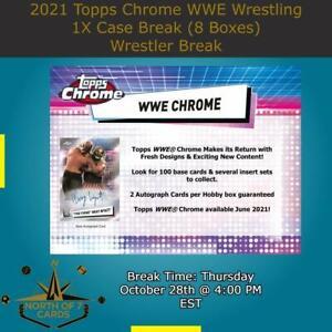 Aleister Black 2021 Topps Chrome WWE Hobby 1X Case 8X Boxes Break #1