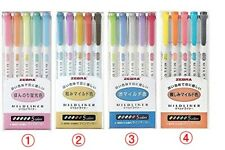 ZEBRA MILDLINER Soft Color Double-Sided Highlighter marker, 5 / 15 /20 Color set