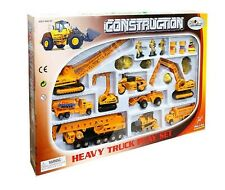 Pro-Engine Toy Construction Heavy Equipment Vehicle Car Crane Dump Truck Toy Set