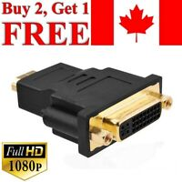 HDMI Male to DVI Female Adapter Converter Gold Plated Connector 1080P for TV PC