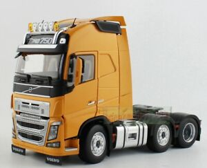 1/32 MARGE MODELS VOLVO FH16 6x2 Heavy Duty Truck Tractor 750 YELLOW Diecast