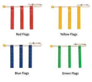 Martin Sports DOZEN (12) Adjustable Flag Football Belts, Quick Release, 3 Flags