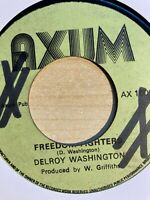 """Delroy Washington - Freedom Fighter / Version 7"""" Axum Late 70s UK Roots mp3"""