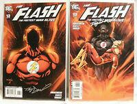 COMIC DC THE FLASH  #13  #13  SIGNED BY  TONY  DANIEL  N/M