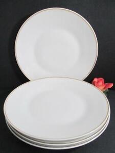 MID CENTURY MODERN ROSENTHAL 4 PORCELAIN DINNER PLATES BAUMANN