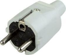 Schutzkontaktstecker, grau PVC Schukostecker 220V Schuko- Stecker Grau