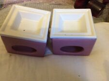 2 Pink And White Wax Melts Burner