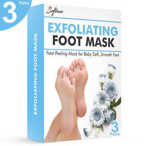 Softease Foot Peeling Mask 3 Pairs for Baby Soft Smooth Feet, Exfoliate Feet
