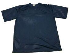 VINTAGE Highland Mesh Shirt Size Large Navy Blue Short Sleeve Jersey Monochrome