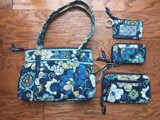 Blue Floral 4 Piece Handbag Purse And Wallet Set Vera Bradley