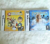 Nintendo DS Game MEET THE ROBINSONS + DISNEY ENCHANTED Bundle