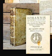 1560 Epigrammata Erste Ausgabe Vita 2 in 1 Schweinslederband Melanchthon