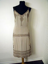 Tracy Reese Anthropologie Silk Dress with Embroidery - size Large