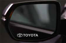 4x Wing Mirror Stickers Fits Toyota Logo Graphics Premium Quality PD91