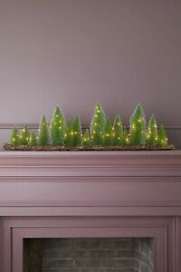 ANTHROPOLOGIE TERRAIN LED BRUSH TREE FOREST TABLE MANTLE PIECE CHRISTMAS HOLIDAY