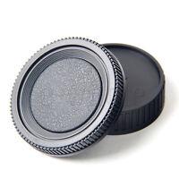 Camera Rear Lens Cap Cover + Camera Body Cap Cover for Minolta MD Mount DSLR TW