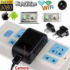 1080P SPY Hidden Camera WIFI USB Wall Phone Charger AC Adapter Plug DVR 32GB Li